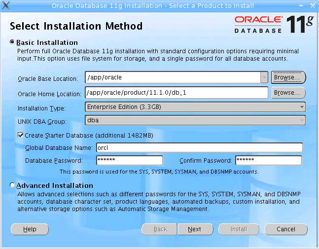 Oracle 11gR1 Installer - first screen